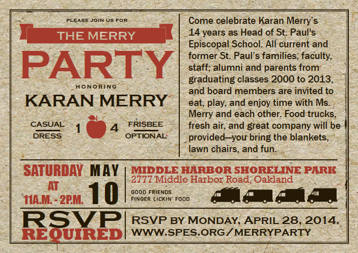 The Merry Party Invite