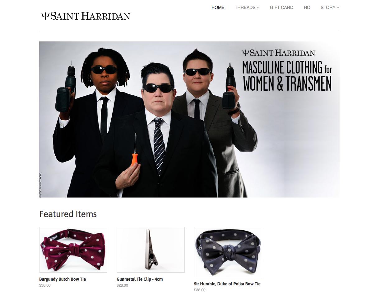 Saint Harridan Website